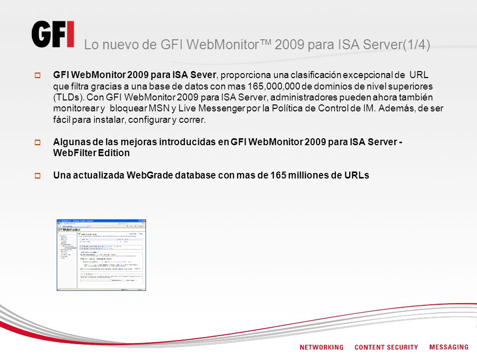 Lo nuevo de GFI WebMonitor™ 2009 para ISA Server(1/4)