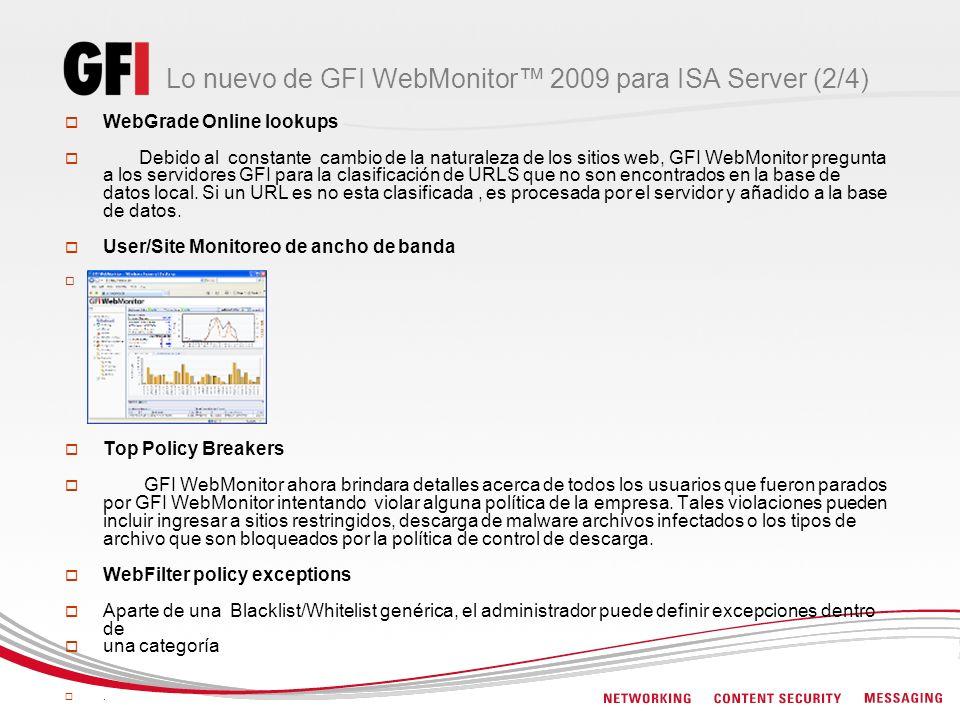 Lo nuevo de GFI WebMonitor™ 2009 para ISA Server (2/4)