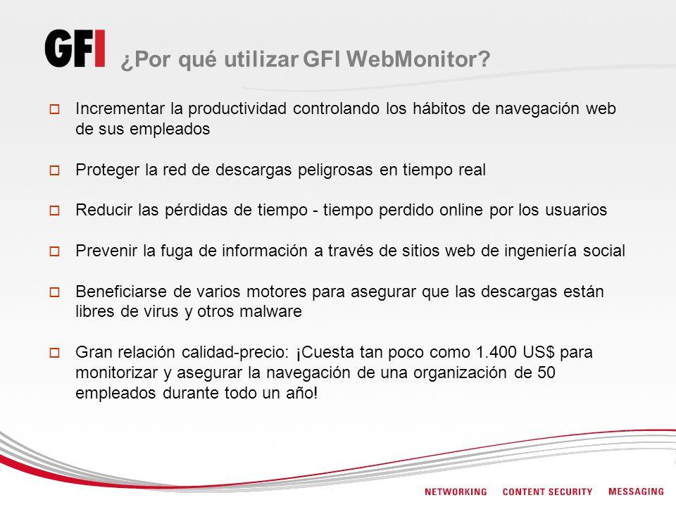 ¿Por qué utilizar GFI WebMonitor
