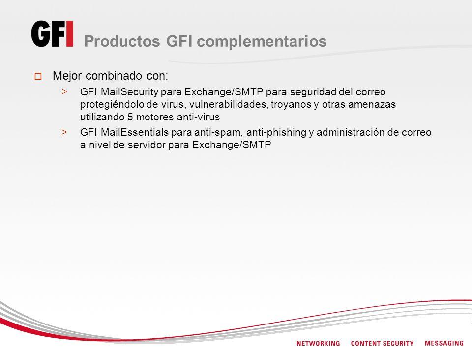 Productos GFI complementarios