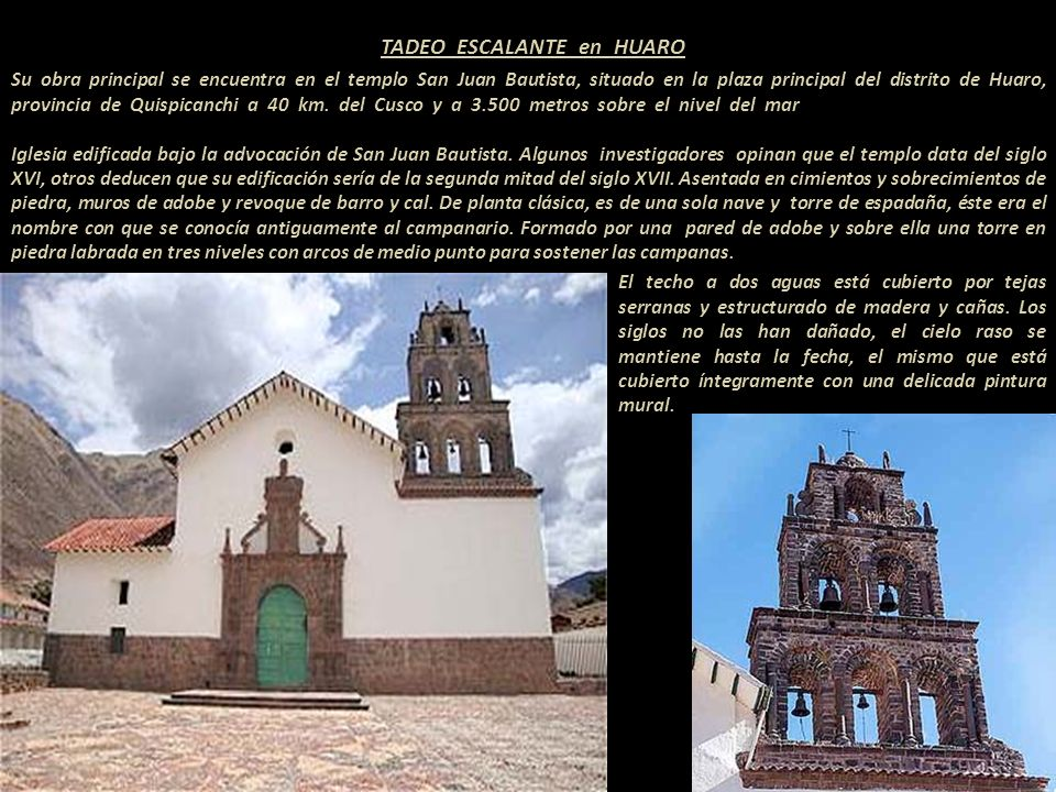 TADEO ESCALANTE en HUARO