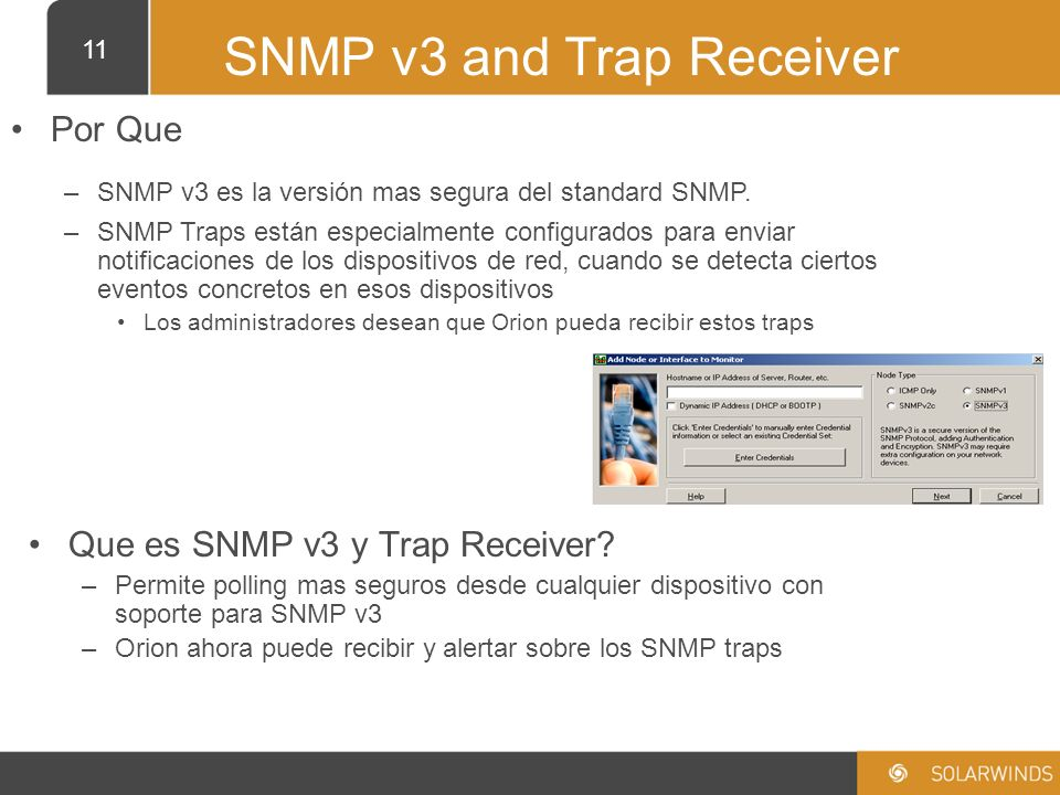 SNMP v3 and Trap Receiver