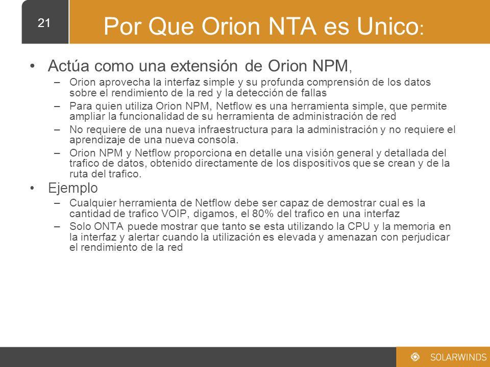 Por Que Orion NTA es Unico: