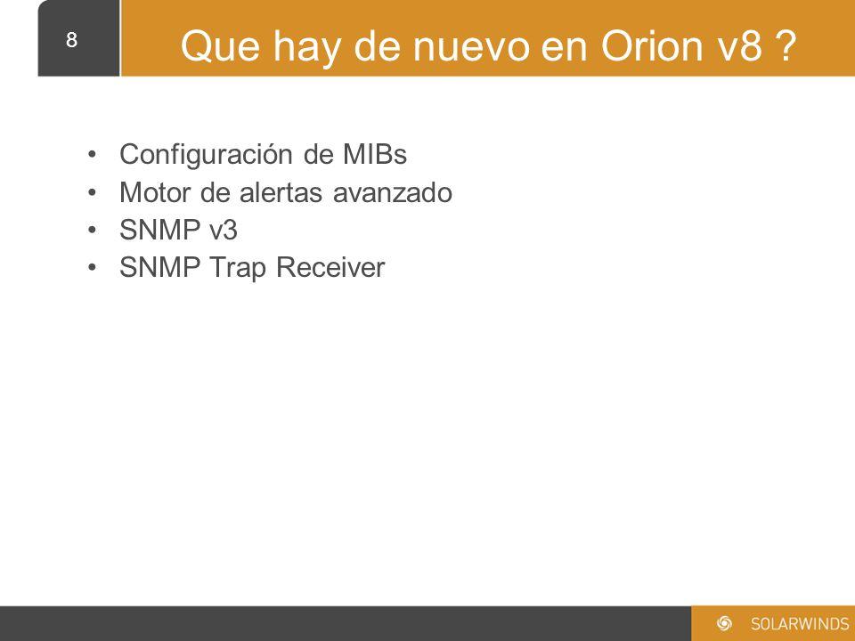 Que hay de nuevo en Orion v8