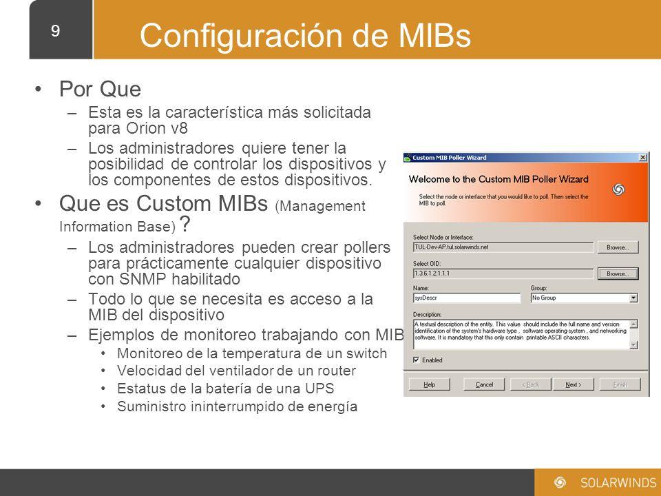 Configuración de MIBs Por Que