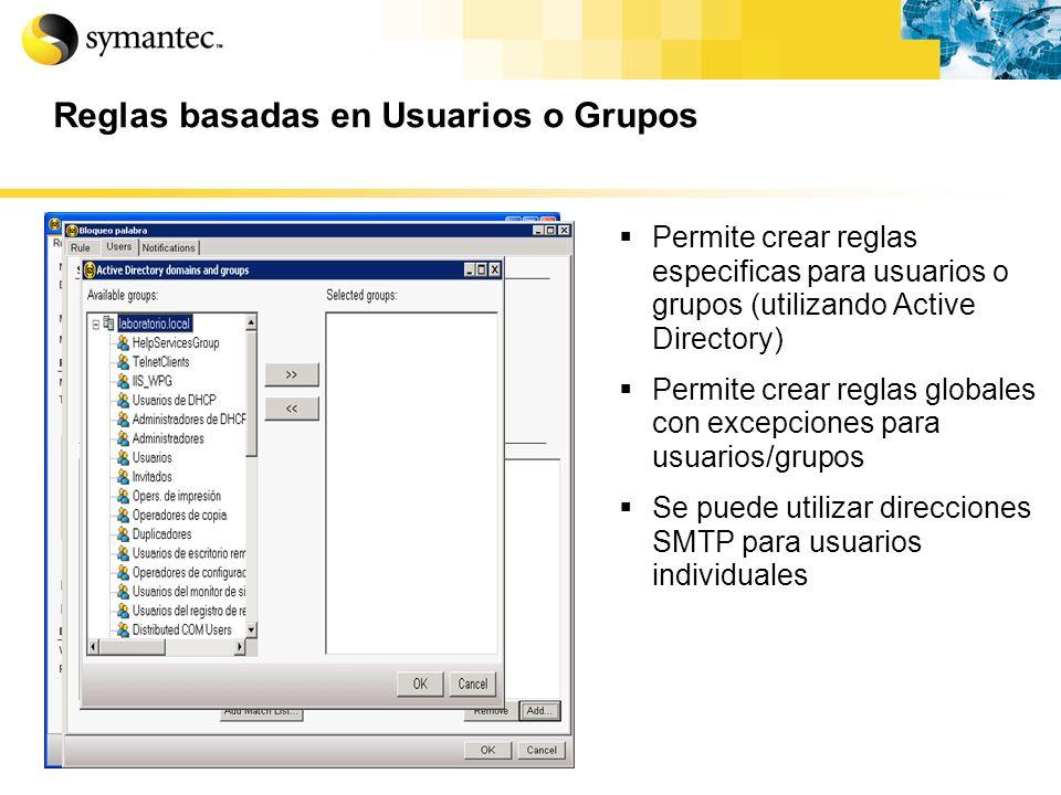 Reglas basadas en Usuarios o Grupos