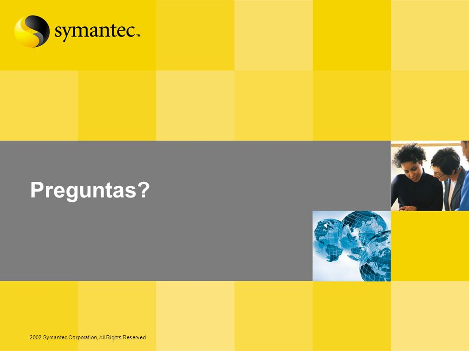Preguntas 2002 Symantec Corporation, All Rights Reserved