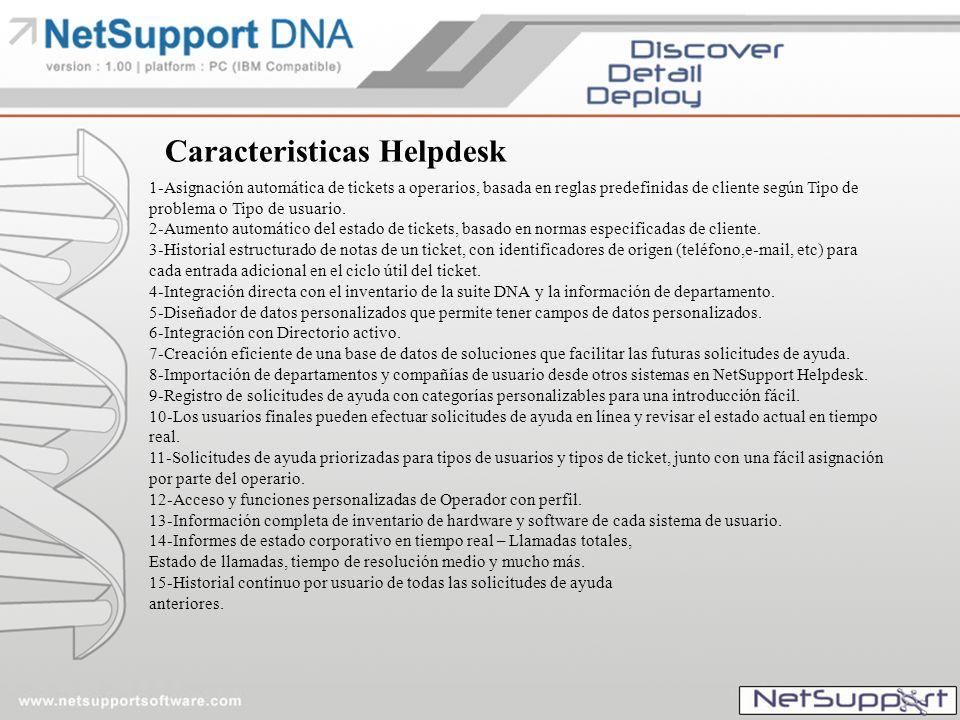 Caracteristicas Helpdesk