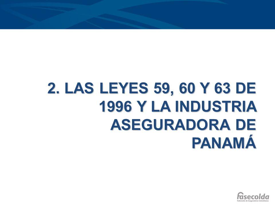 2. LAS LEYES 59, 60 Y 63 DE 1996 Y LA INDUSTRIA ASEGURADORA DE PANAMÁ