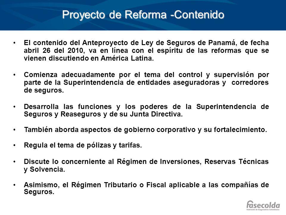 Proyecto de Reforma -Contenido
