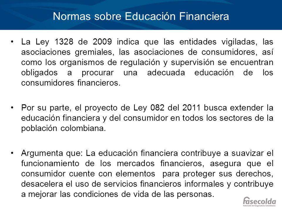 Normas sobre Educación Financiera