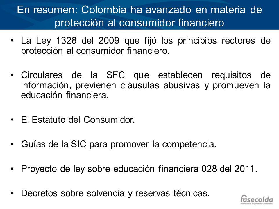 En resumen: Colombia ha avanzado en materia de protección al consumidor financiero