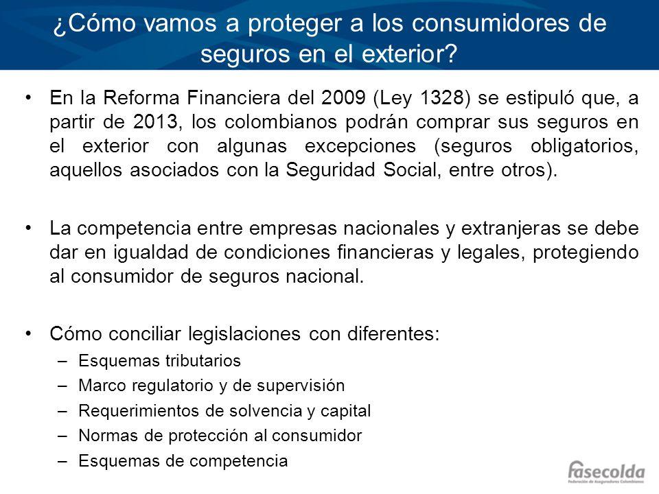 ¿Cómo vamos a proteger a los consumidores de seguros en el exterior