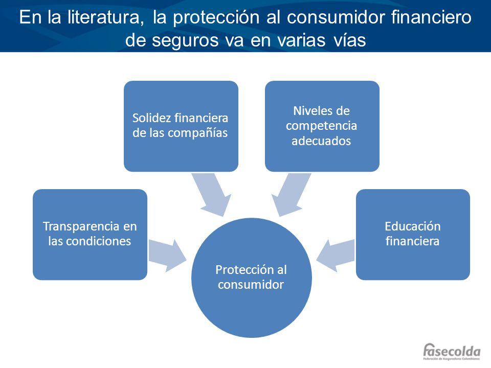 En la literatura, la protección al consumidor financiero de seguros va en varias vías