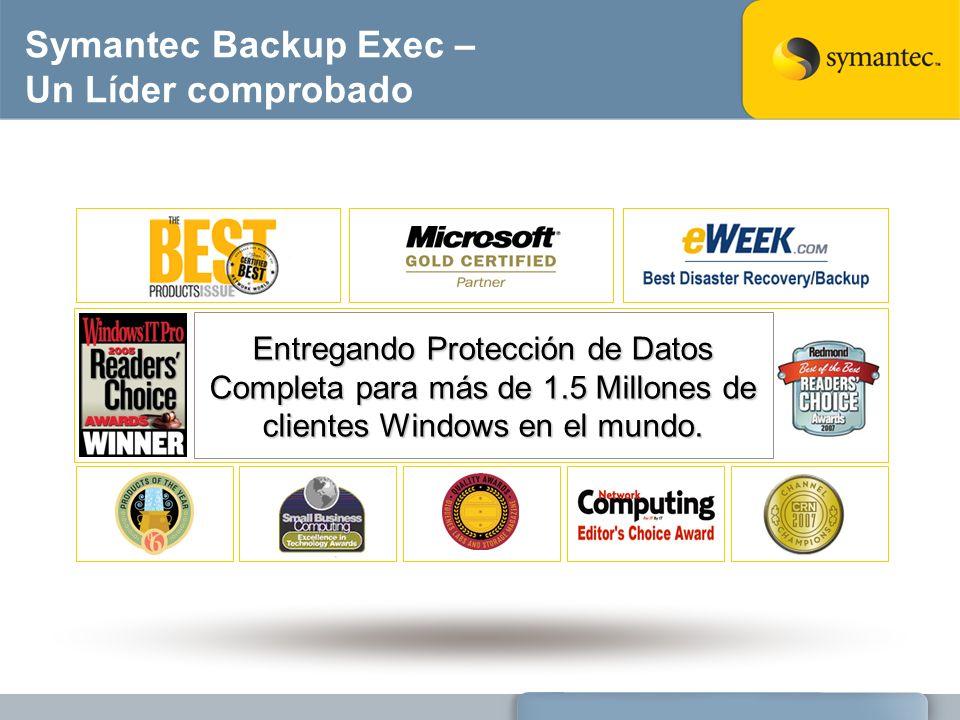 Symantec Backup Exec – Un Líder comprobado