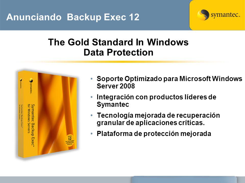 Anunciando Backup Exec 12