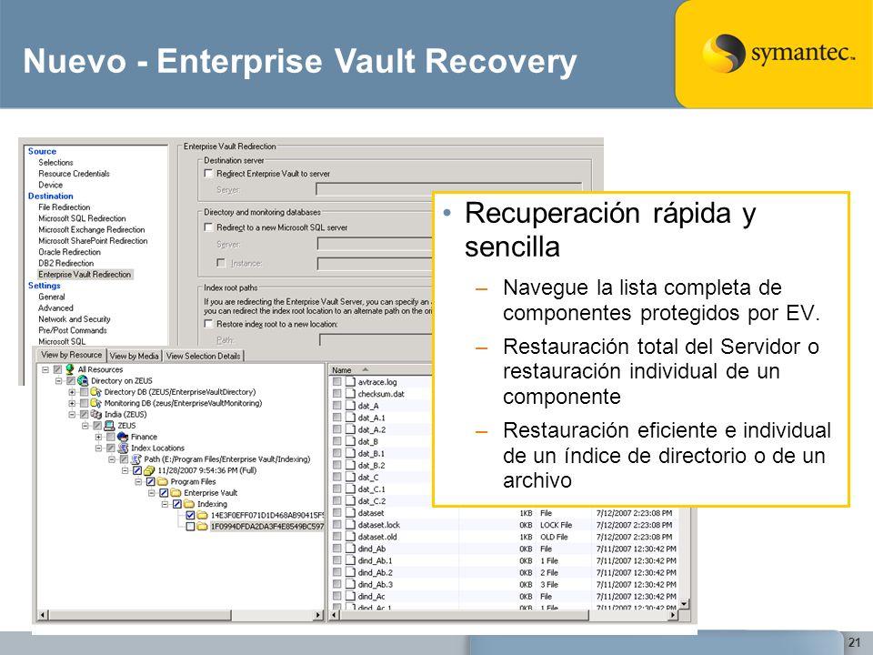 Nuevo - Enterprise Vault Recovery
