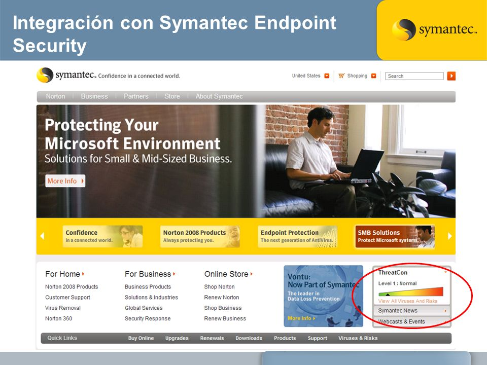 Integración con Symantec Endpoint Security