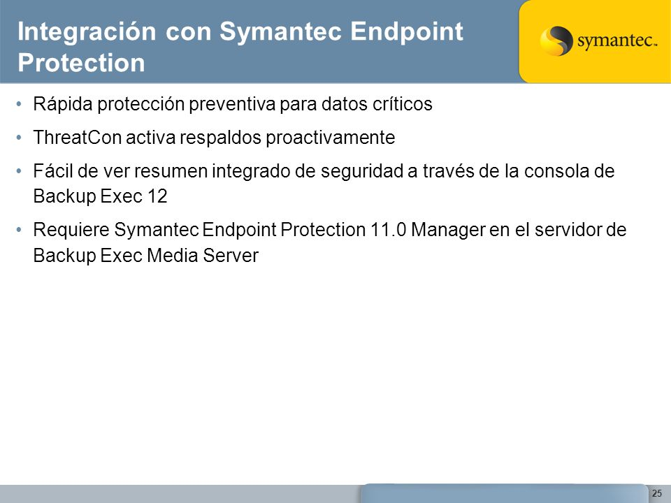 Integración con Symantec Endpoint Protection