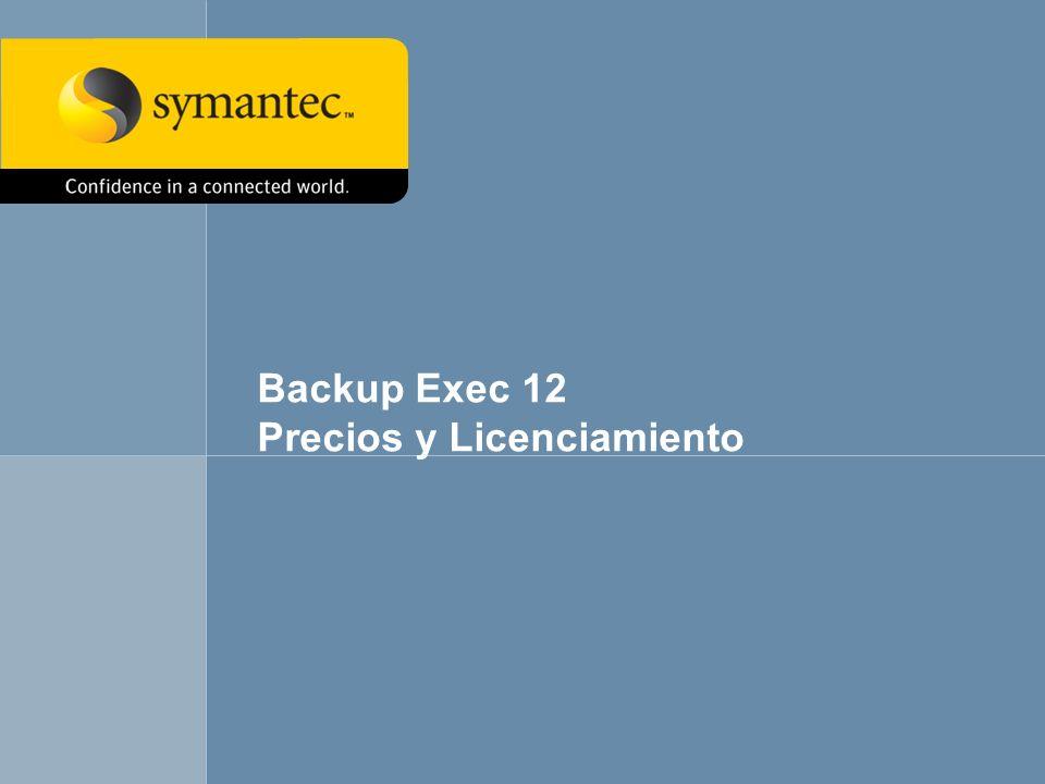 Backup Exec 12 Precios y Licenciamiento