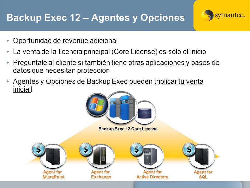 Backup Exec 12 – Agentes y Opciones