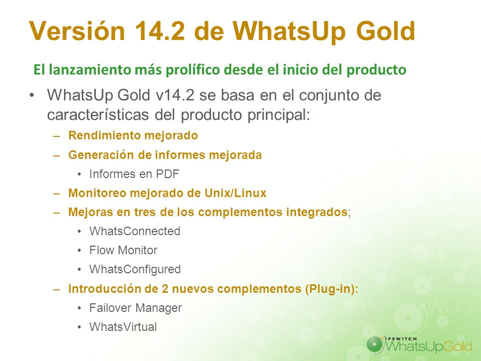 Versión 14.2 de WhatsUp Gold