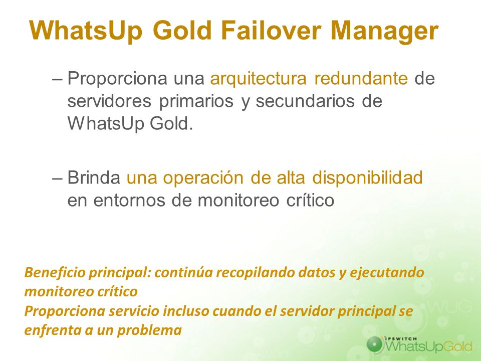 WhatsUp Gold Failover Manager