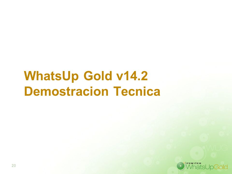WhatsUp Gold v14.2 Demostracion Tecnica