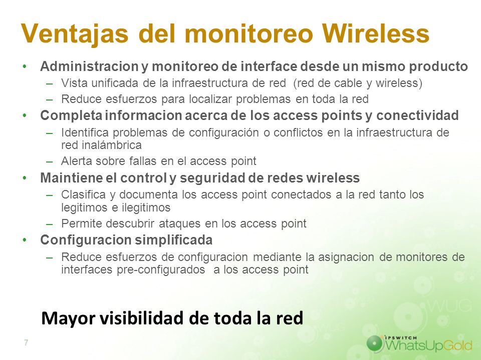 Ventajas del monitoreo Wireless
