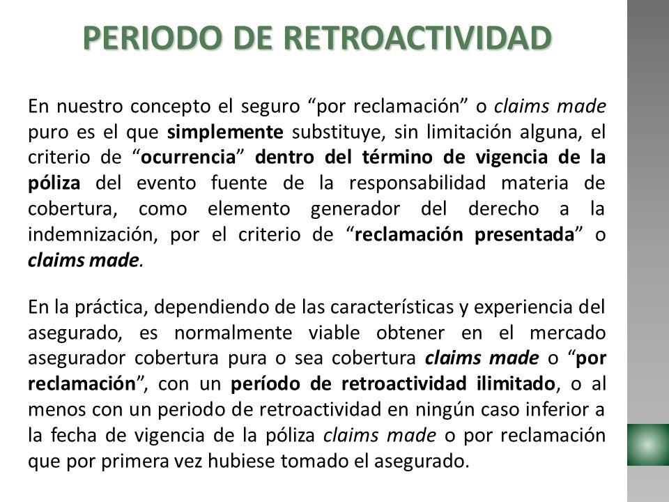 PERIODO DE RETROACTIVIDAD