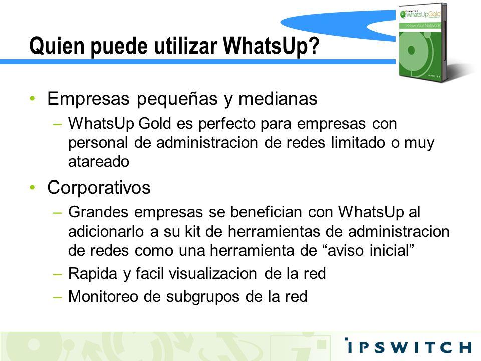 Quien puede utilizar WhatsUp