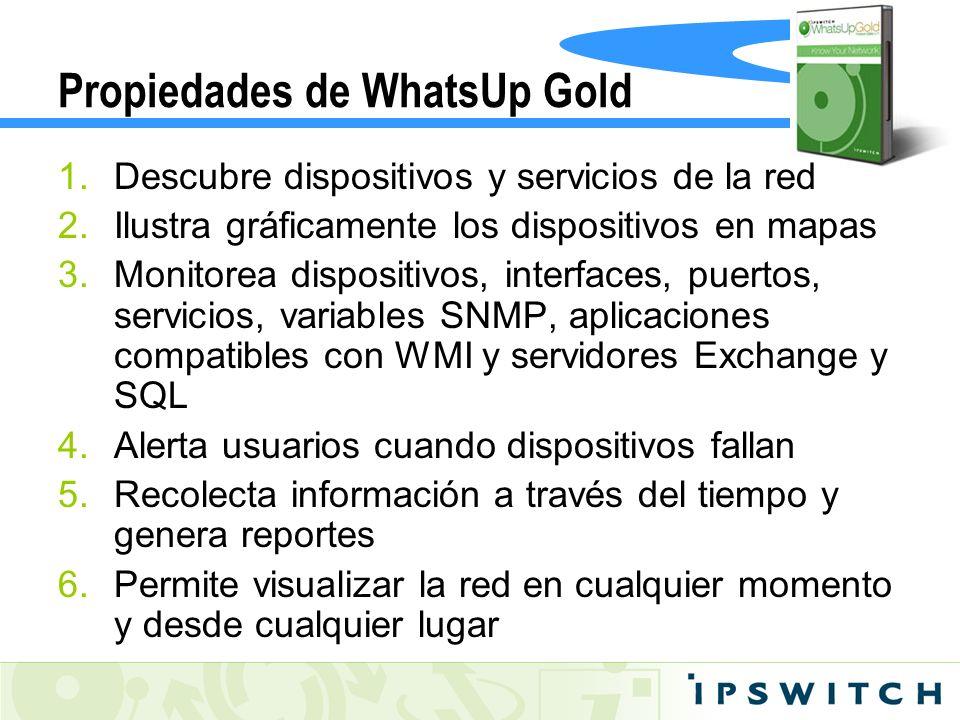 Propiedades de WhatsUp Gold