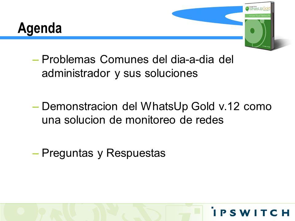 Agenda Problemas Comunes del dia-a-dia del administrador y sus soluciones.