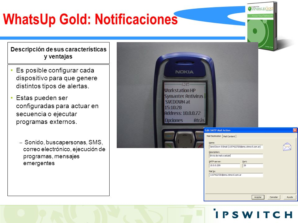 WhatsUp Gold: Notificaciones