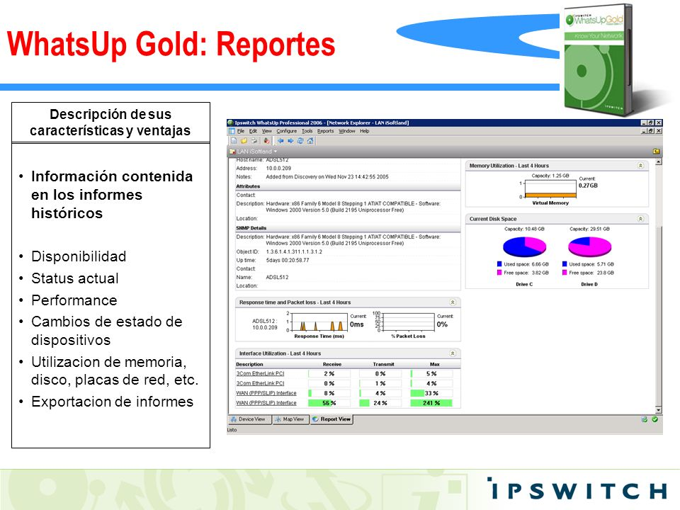 WhatsUp Gold: Reportes