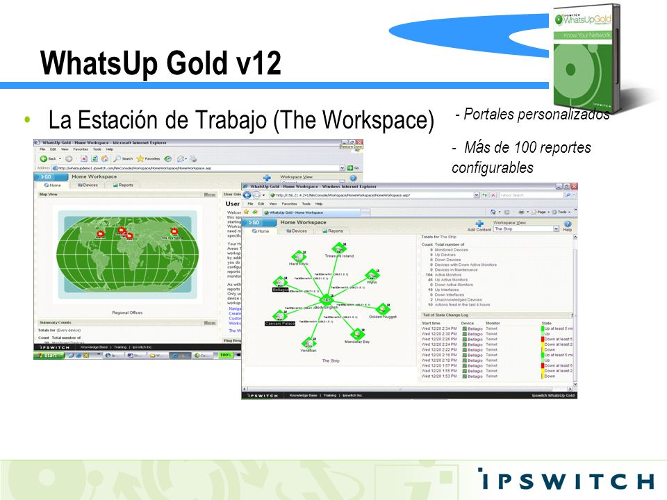 WhatsUp Gold v12 La Estación de Trabajo (The Workspace)