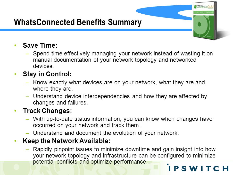 WhatsConnected Benefits Summary