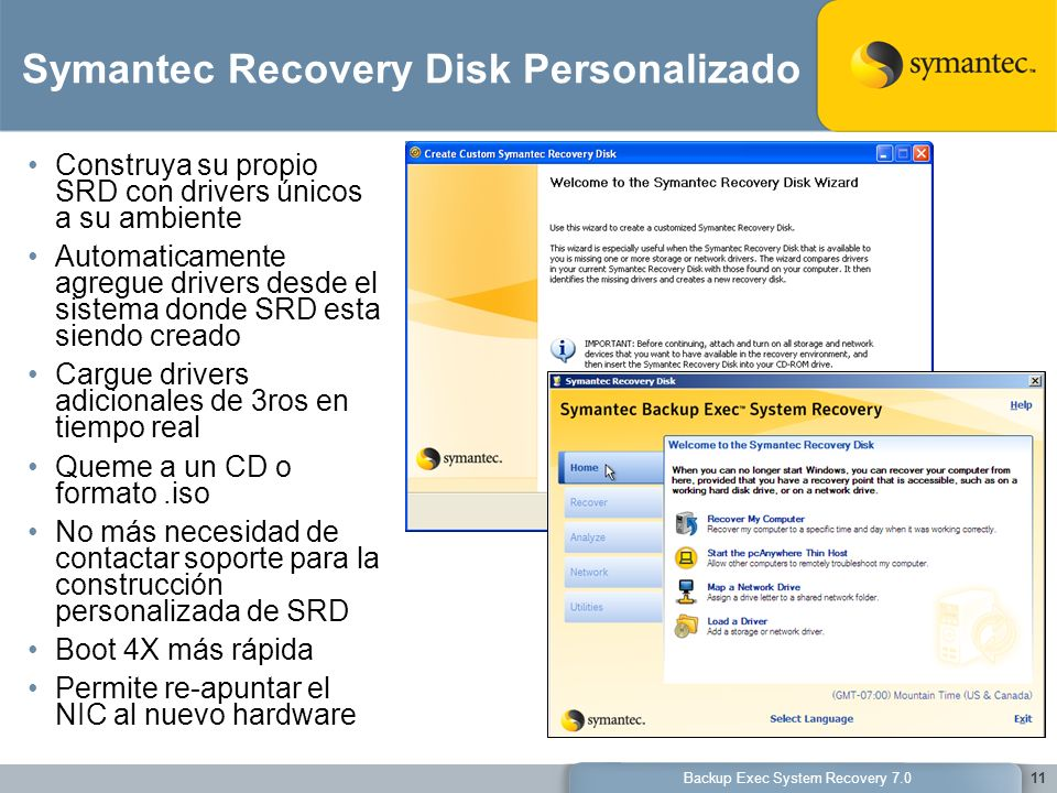 Symantec Recovery Disk Personalizado