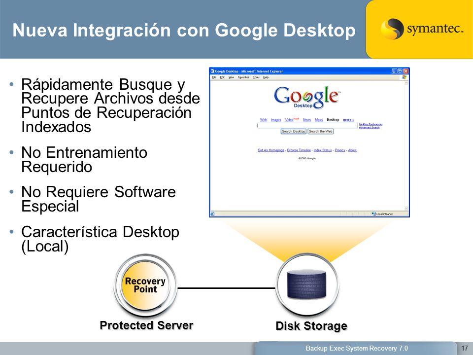 Nueva Integración con Google Desktop