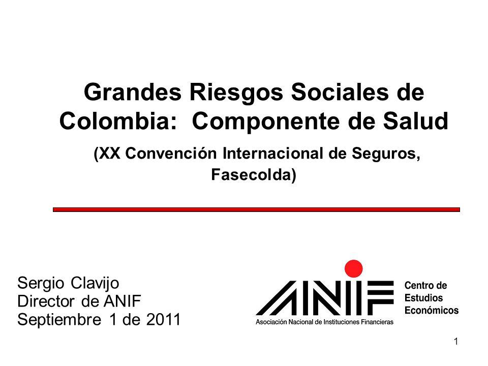 Grandes Riesgos Sociales de Colombia: Componente de Salud