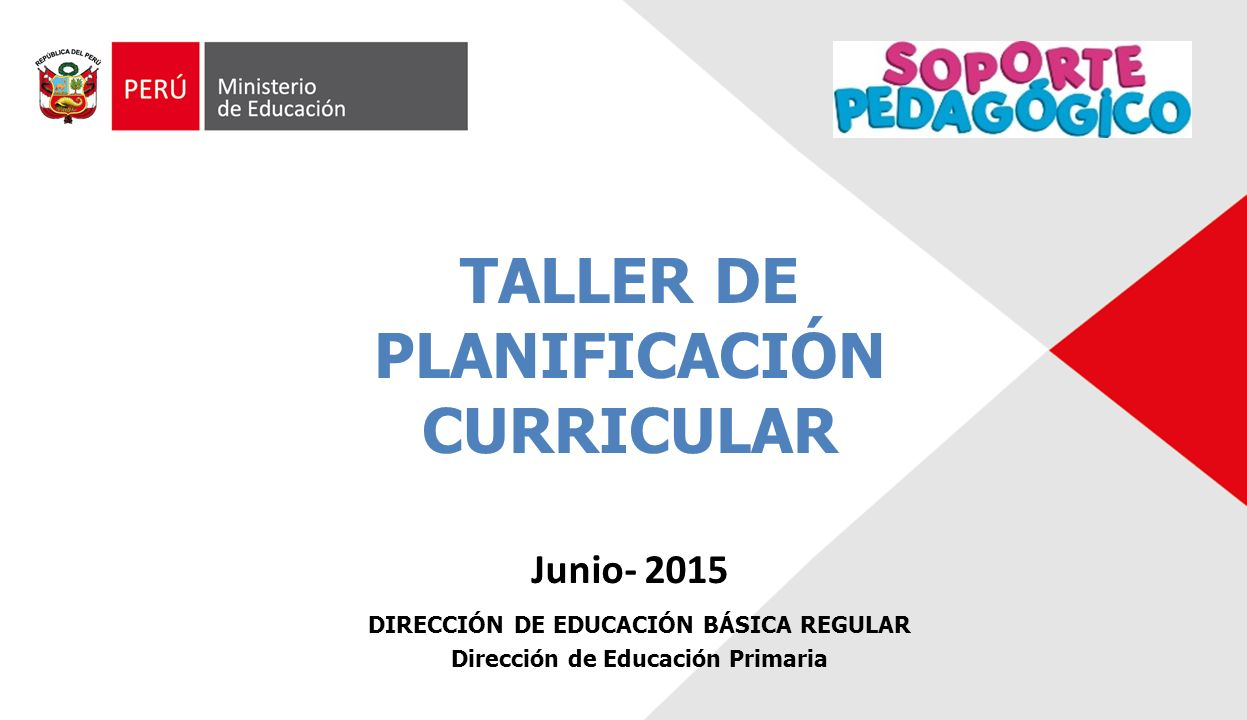 Taller de planificaci n curricular ppt video online for Planificacion de educacion inicial