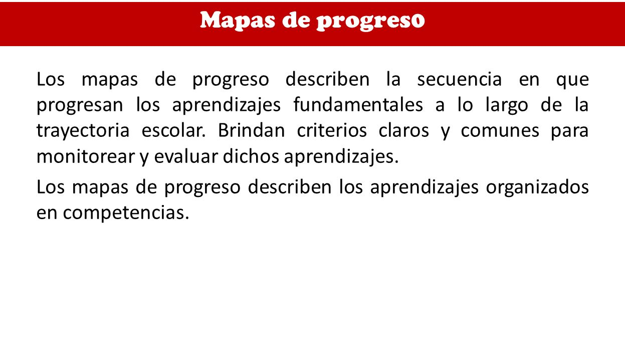 Mapas de progres0