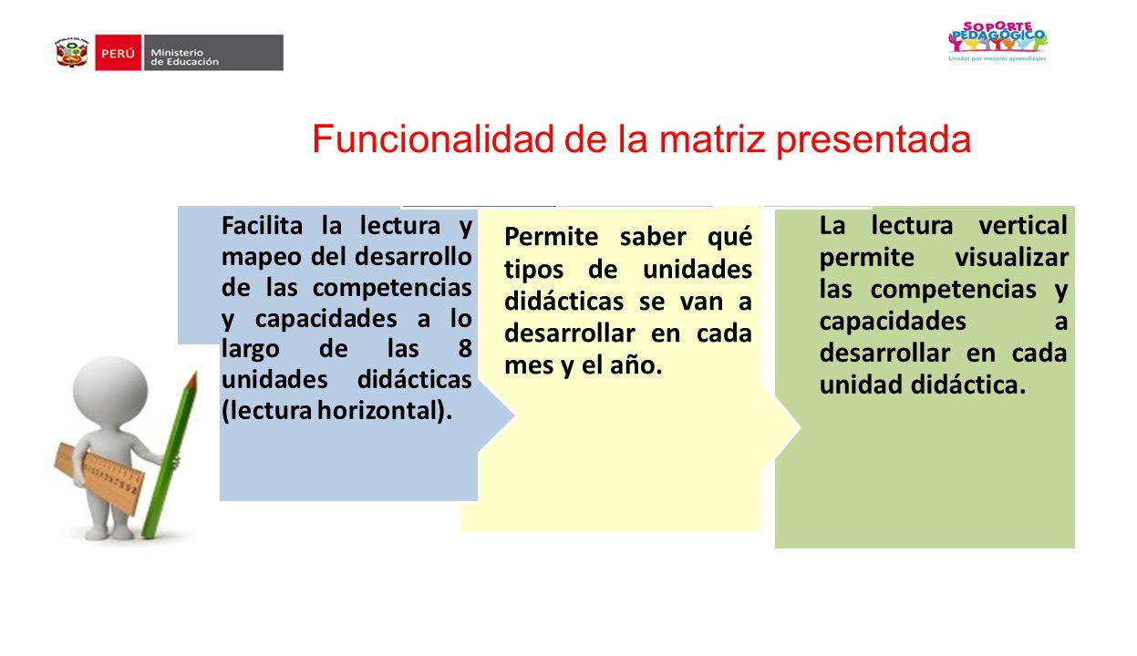 Funcionalidad de la matriz presentada