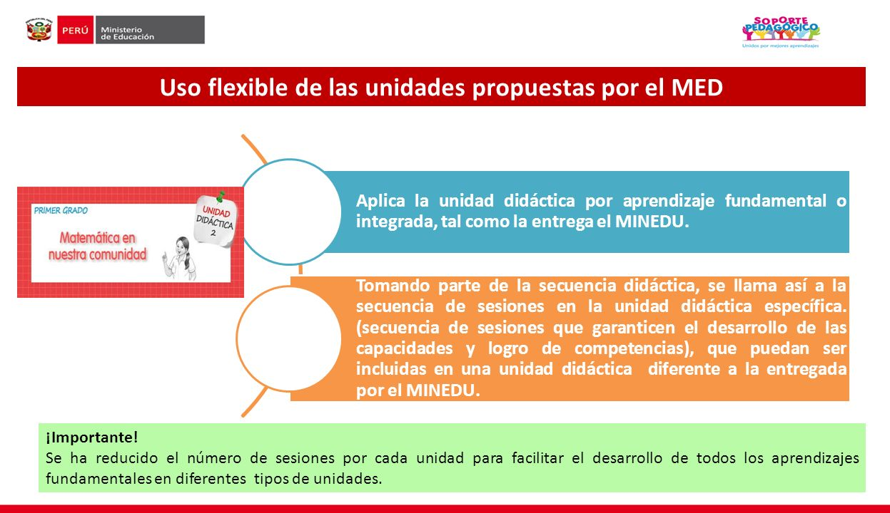 Uso flexible de las unidades propuestas por el MED