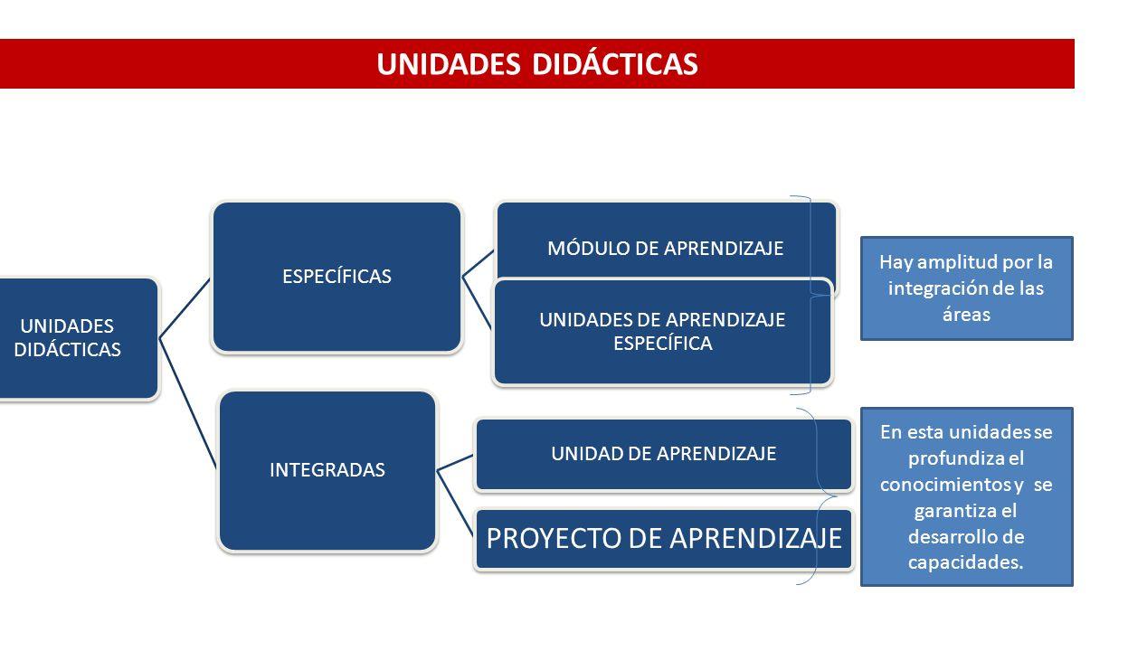 UNIDADES DIDÁCTICAS UNIDADES DIDÁCTICAS ESPECÍFICAS