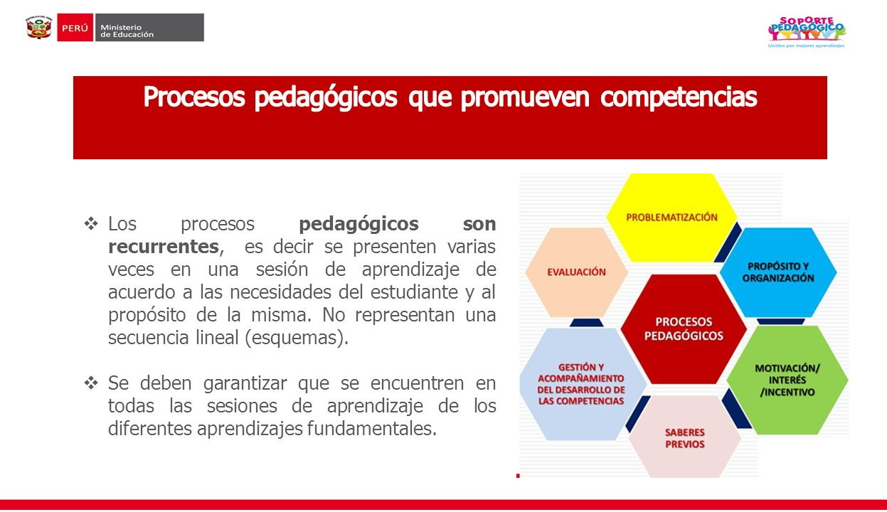 Procesos pedagógicos que promueven competencias