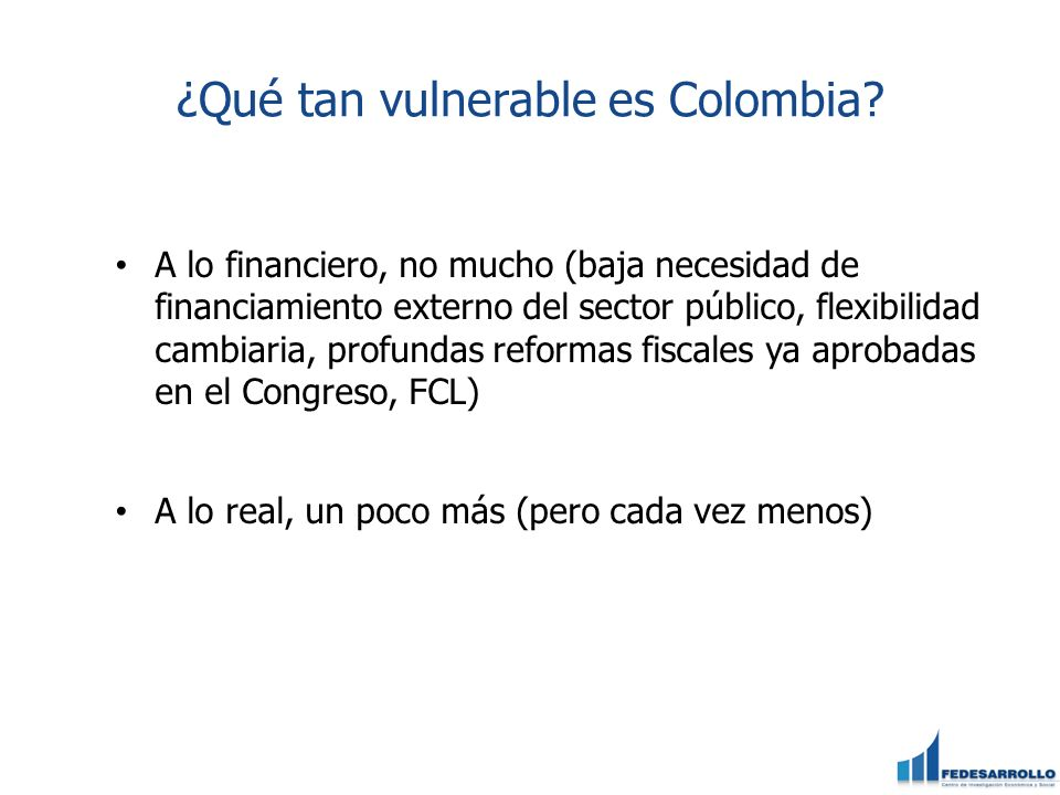 ¿Qué tan vulnerable es Colombia