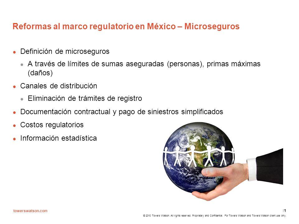 Reformas al marco regulatorio en México – Microseguros