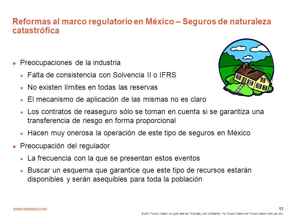 Reformas al marco regulatorio en México – Seguros de naturaleza catastrófica