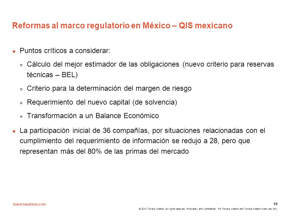 Reformas al marco regulatorio en México – QIS mexicano